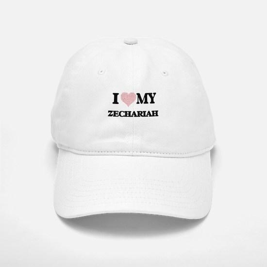 I Love my Zechariah (Heart Made from Love my w Baseball Baseball Cap