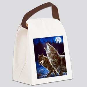Howling Wolves Canvas Lunch Bag
