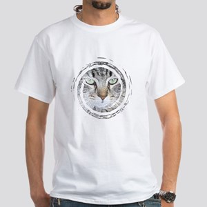 Feline Faces White T-Shirt