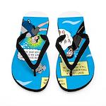 SCUBA Confusion Flip Flops
