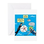 SCUBA Confusion Greeting Cards (Pk of 10)