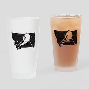 Ski Montana Drinking Glass