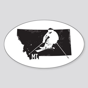Ski Montana Sticker (Oval)