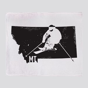 Ski Montana Throw Blanket