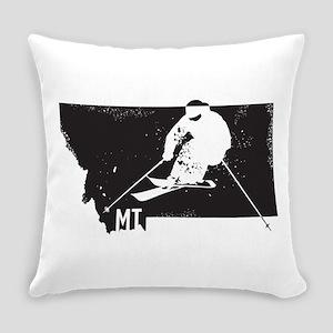 Ski Montana Everyday Pillow