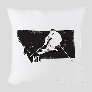 Ski Montana Woven Throw Pillow