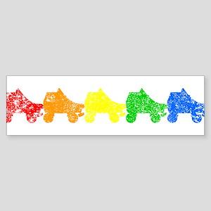 rainbow skates Bumper Sticker