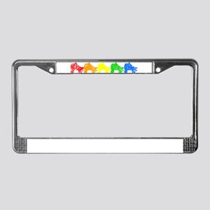 rainbow skates License Plate Frame