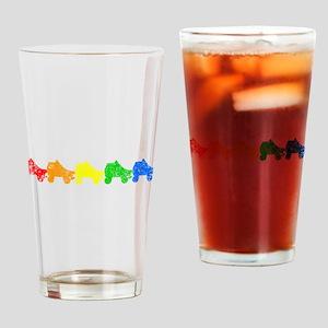rainbow skates Drinking Glass