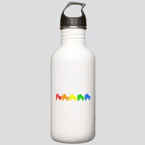 rainbow skates Water Bottle
