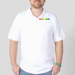 rainbow skates Golf Shirt