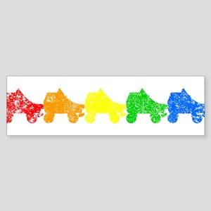 rainbow skates Bumper Sticker