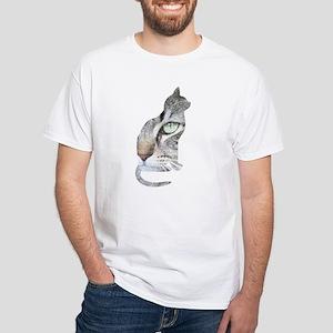 Feline Faces White T-Shirt