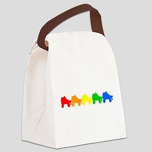 roller derby rainbow skates Canvas Lunch Bag