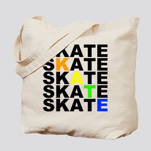 rainbow skate stacks Tote Bag