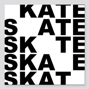 """skate stack Square Car Magnet 3"""" x 3"""""""
