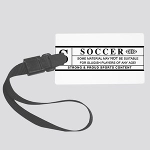 soccer warning label Luggage Tag