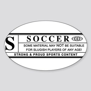 soccer warning label Sticker