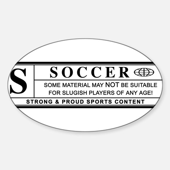 soccer warning label Decal