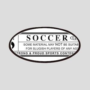 soccer warning label Patch