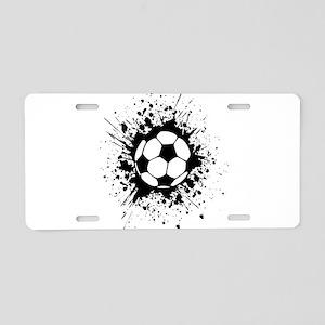 soccer splats Aluminum License Plate