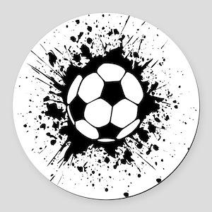 soccer splats Round Car Magnet