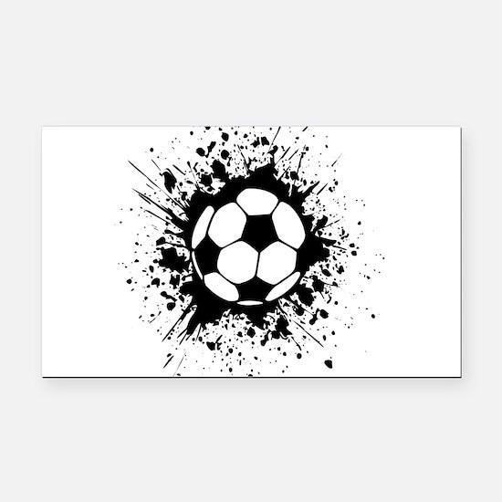 soccer splats Rectangle Car Magnet