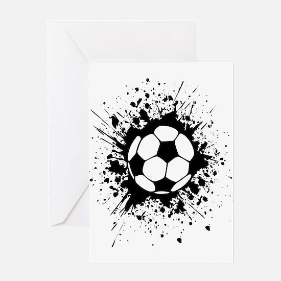 soccer splats Greeting Cards