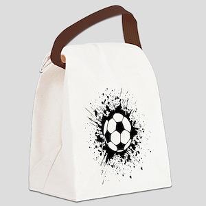 soccer splats Canvas Lunch Bag