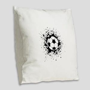 soccer splats Burlap Throw Pillow