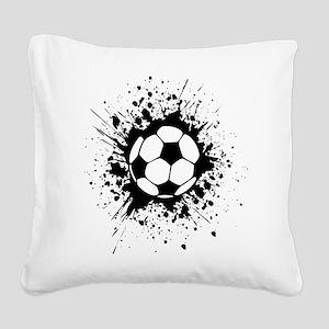 soccer splats Square Canvas Pillow