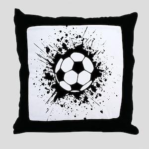 soccer splats Throw Pillow