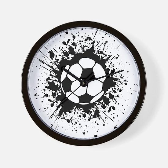 soccer splats Wall Clock