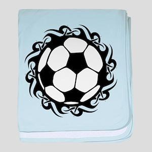 tribal futbol baby blanket