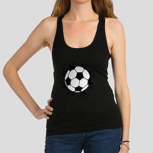 tribal futbol Racerback Tank Top
