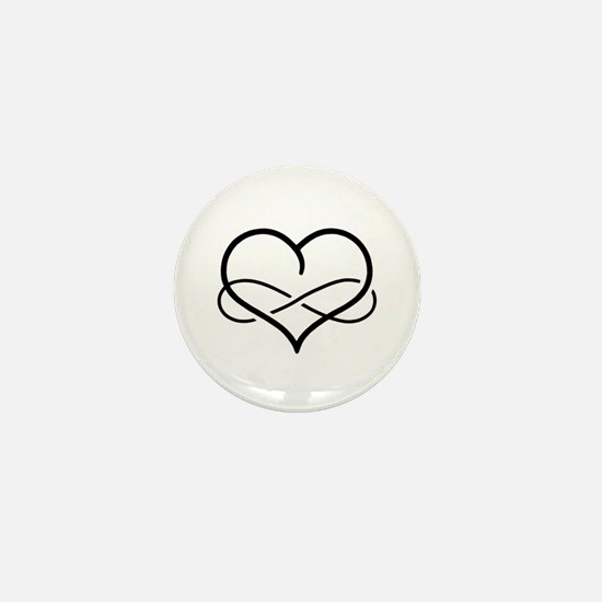 Infinity Heart Mini Button (100 pack)