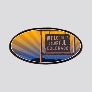 welcome to colorful colorado sign Patch