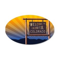 welcome to colorful colorado sign Wall Decal