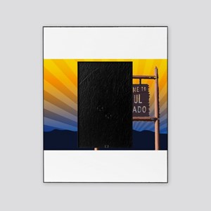 welcome to colorful colorado sign Picture Frame