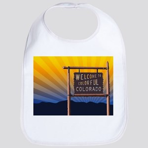 welcome to colorful colorado sign Bib