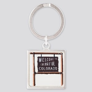 welcome to colorful colorado signage Keychains