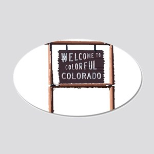 welcome to colorful colorado signage Wall Decal