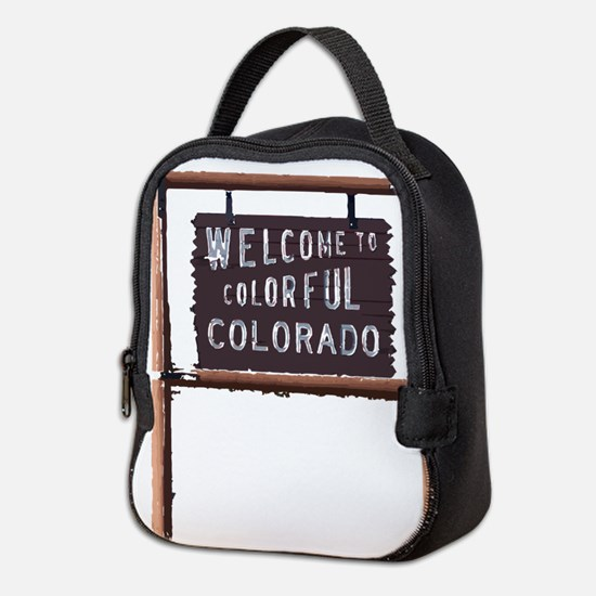welcome to colorful colorado signage Neoprene Lunc