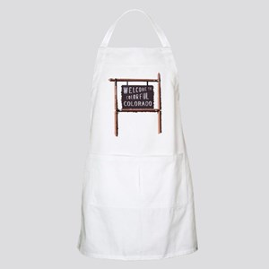 welcome to colorful colorado signage Apron