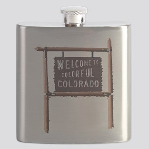 welcome to colorful colorado signage Flask