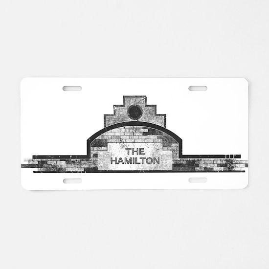 the hamilton Aluminum License Plate