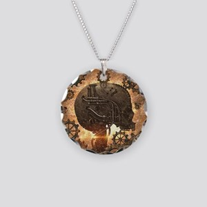Awesome steampunk Skull with gears Necklace
