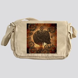 78fffa8748 Awesome steampunk Skull with gears Messenger Bag