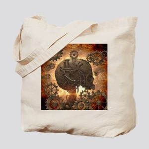 Awesome steampunk Skull with gears Tote Bag
