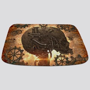 Awesome steampunk Skull with gears Bathmat